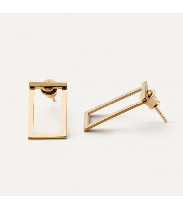 Rectangles earrings sterling silver 925