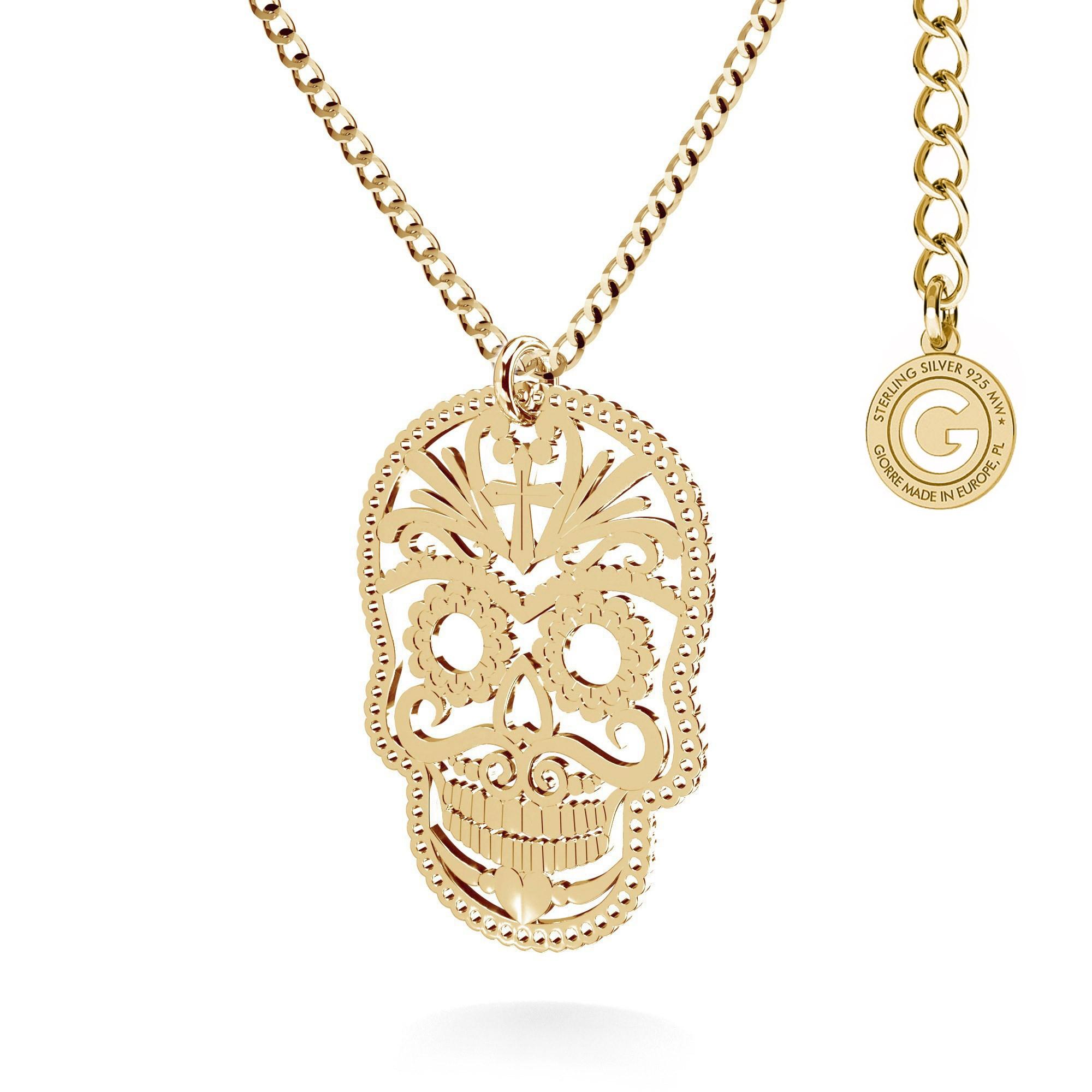 MON DÉFI SUGAR SKULL necklace sterling silver 925