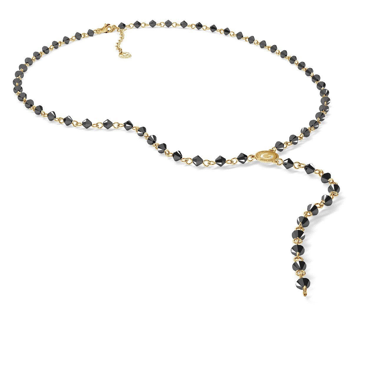 Necklace charms base with Swarovski