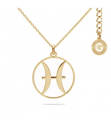 Pisces zodiac sign necklace silver 925