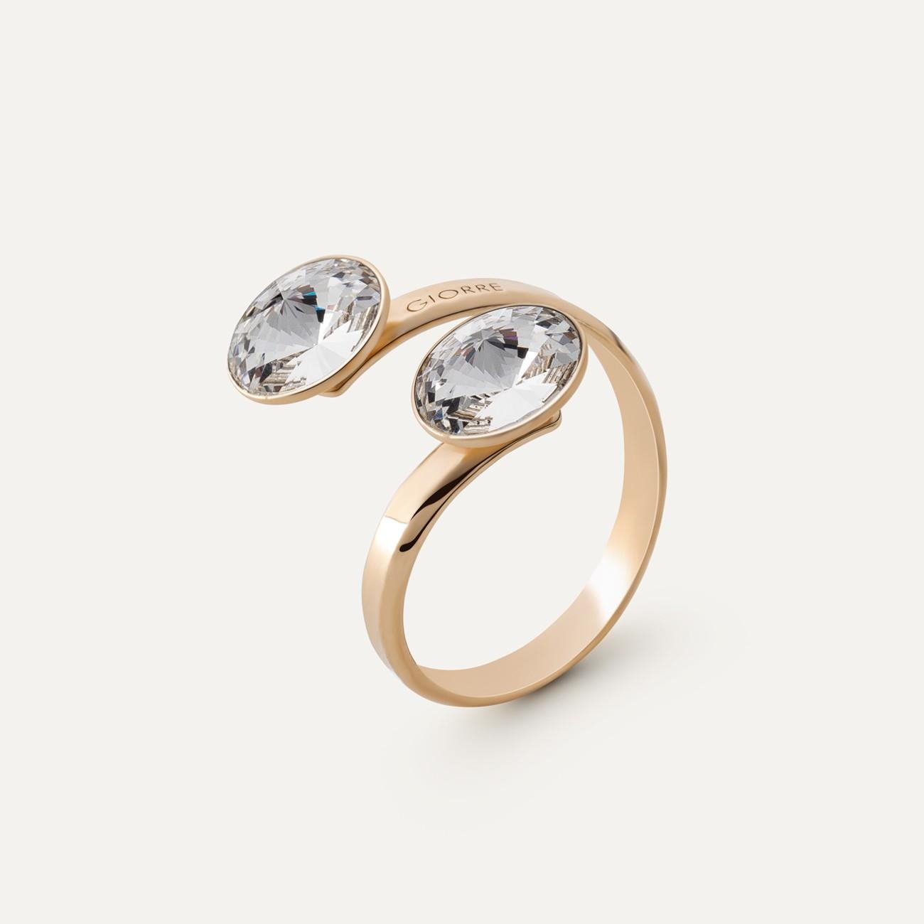 Rivoli ring with 2 stones 8mm, Swarovski