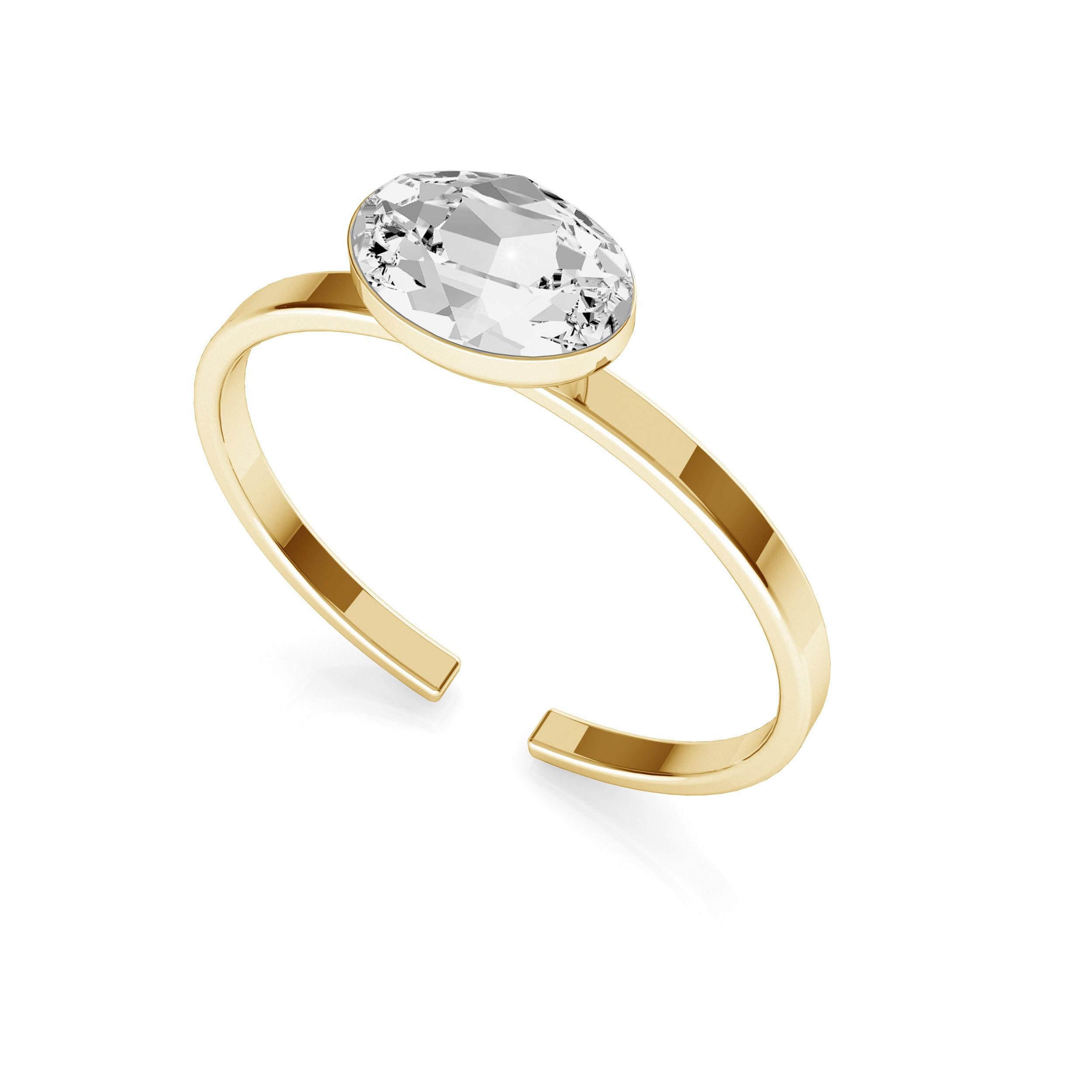 Ring with oval Swarovski Rivoli, silver 925 My RING™