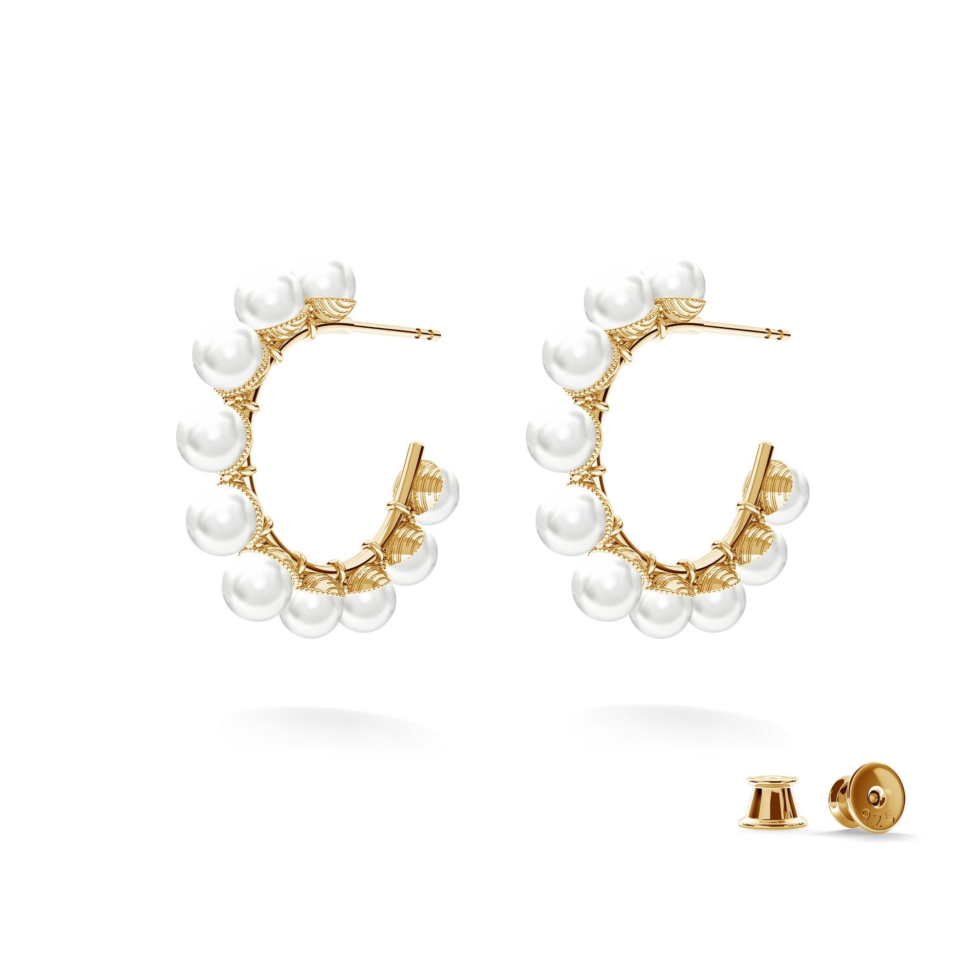 Pendientes de plata 925 con perlas, MON DÉFI