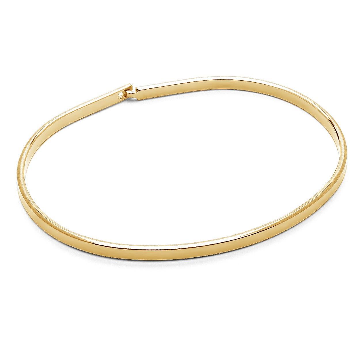 Unisex bangle bracelet, brushed sterling silver 925