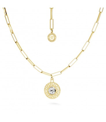 Greek necklace with crystal silver 925