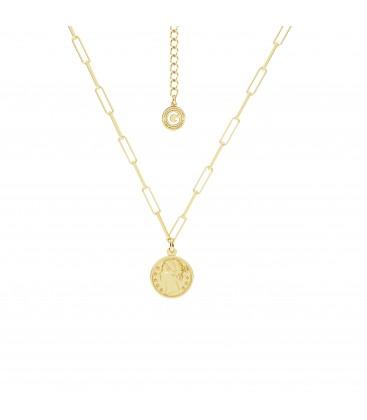Coin necklace silver 925