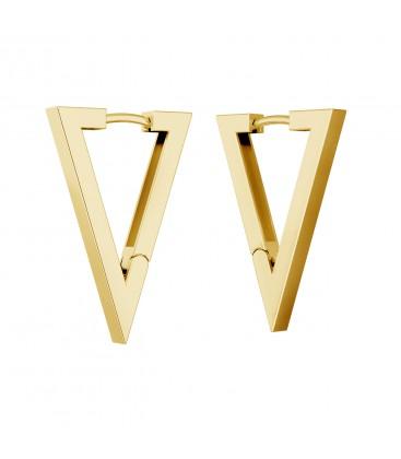 Triangles geometric earrings, sterling silver 925